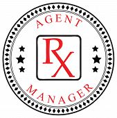 image of pharmaceutical company  - Creative symbol for the Agent or Manager a pharmaceutical company - JPG