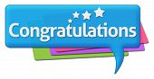 stock photo of congratulation  - Congratulation text with stars written over colorful background - JPG
