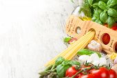 stock photo of italian food  - Italian food background - JPG