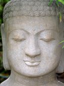 Peace, Happiness And Serenity - Face Of Buddha