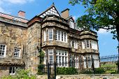 stock photo of manor  - Exterior of a traditional English manor house - JPG
