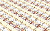 picture of dirham  - Moroccan dirhams bills stacks background - JPG