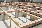 picture of foundation  - foundation construction foundation works in residential area in Tokyo - JPG