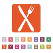 foto of knife  - The knife and fork icon - JPG