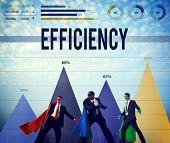 stock photo of efficiencies  - Efficiency Improvement Achievement Business Success Concept - JPG