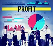 image of proceed  - Profit Gain Proceeds Gain Earning Concept - JPG