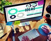 stock photo of objectives  - Ideas Tactics Vision Motivation Objective Concept - JPG