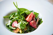 image of vinegar  - Fresh Salad with strawberries - JPG