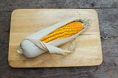 stock photo of corn-silk  - Organic dry brown corn - JPG