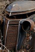 Abandoned Car Close-Up