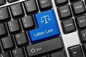 Conceptual Keyboard - Labor Law (blue Key) poster