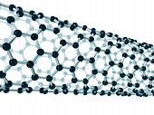 stock photo of nanotube  - Illustration of the detailed structure of a carbon nanotube - JPG