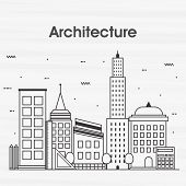Постер, плакат: Modern flat style illustration of Architecture Engineering Construction and Building Planning One pa