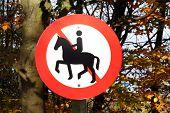 sign for no riding