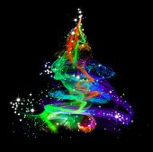 Abstract Colorful Christmas Tree