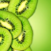 Fatias de kiwi