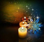 Постер, плакат: Рождественские свечи