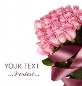 picture of pink rose  - Big Roses Bouquet - JPG