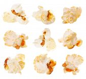 stock photo of popcorn  - Popcorn Set - JPG