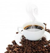 stock photo of coffee-cup  - Coffee border - JPG