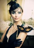 pic of masquerade mask  - Retro Holidays Celebration - JPG