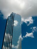 Business in the cloud. Skyscraper from Dallas