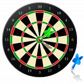 Dart Board With Arrow