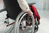 image of crippled  - Cripple in wheelchair - JPG