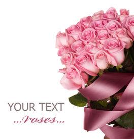 foto of pink rose  - Big Roses Bouquet - JPG