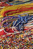Strands Of Multi Color Bead Necklaces