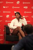 TORONTO: AUGUST 12. Serena Williams in the Rogers Cup 2011 on August 12, 2011 in Toronto, Canada.
