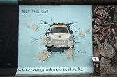 Trabant Through Berlin Wall