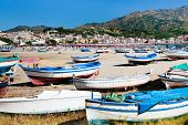 Old Boats On  Beach, Sicily