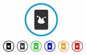 Joker Gambling Card Icon. Vector Illustration Style Is A Flat Iconic Joker Gambling Card Black Symbo poster