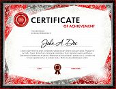 Certificate Of Achievement Blank Template. It Can Be Use As Design For Honor, Award Or Other Officia poster