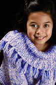 Portrait Of A Happy Little Girl Of Mix Parentage