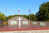 WW2 military monument at Greece