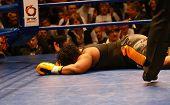 ko. die Niederlage. Boxer Pamela London (Guayana)