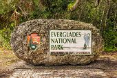 Entrance Sign In The Everglades National Park, Florida poster