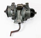 Antique Vintage Automotive Mechanical Dual Action Fuel Pump Assembly poster