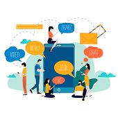 Social Media, Networking, Chatting, Texting, Communication, Online Community, Posts, Comments, News  poster