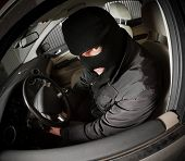 pic of scumbag  - robber and the thief hijacks the car - JPG