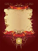 Grunge dekorative Banner. Es kann für Superscribe verwendet werden. Floral Elements und Siegel.