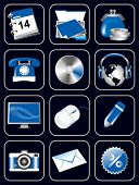Set of icons for website. Vector illustration.