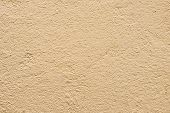 Texture Beige Dyed Cemented Wall, Softly Lined. Exterior Texture Exterior Finish Of External Walls.  poster