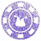 Grunge Joker Casino Chip Rubber Seal Stamp Watermark. Icon Symbol With Grunge Design And Dust Textur poster