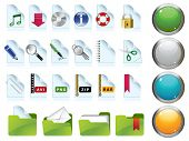Set of internet icons. Raster version of vector illustration.