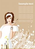 Women fashion. All elements and textures are individual objects. Vector illustration scale to any size.