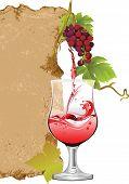 Projeto para a lista de vinhos.  Versão raster de ilustração vetorial.