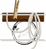 Rope Set. All elements and textures are individual objects. Vector illustration scale to any size.